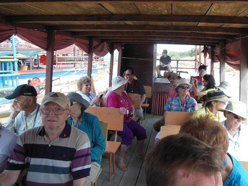 2015 Our group aboard our Touring Boat while visiting the Floating Village of Kompong Phhluk