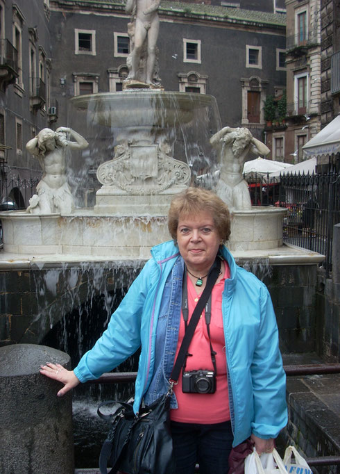 2011 This Fountain is at the Edge of the Main Square in Catania, Sicily