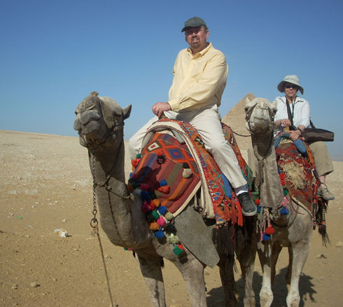 2009 On our Camel Ride through the Desert on Giza Plateau - What a Thrill!