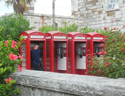 Phone Booths on the Island of Bermuda are just like those in Great Britain