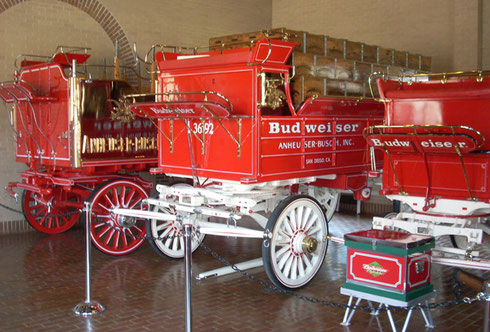 2010 We Visited the Clydesdales and the Parade Wagons after our Tasting and Tour