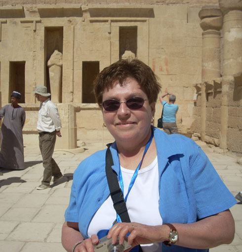 2009 One of our passengers pauses to savor the beauty and aura of Hatshepsut's Temple
