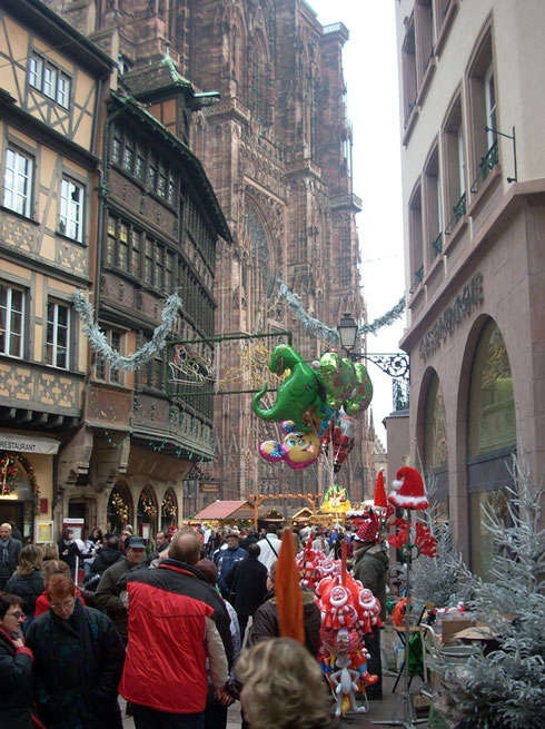 2008 Strasbourg Cathedral Square is Jammed with People Celebrating Christmas Market