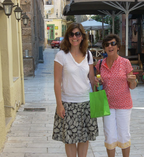 2011 Naufplio - These two would Agree that the Shopping Is Great at this Port Town