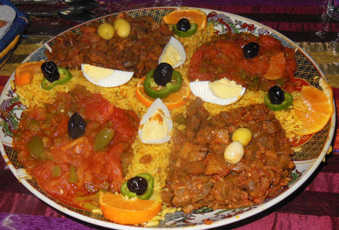 2017 Mixed Salads in Morocco are Mostly Cooked Vegetables - La Baraka, Rissani
