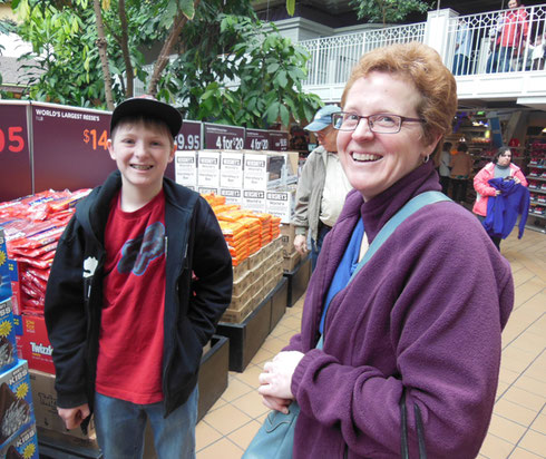 2013 One of our Younger Passengers Shopped Just After the Chocolate World Ride