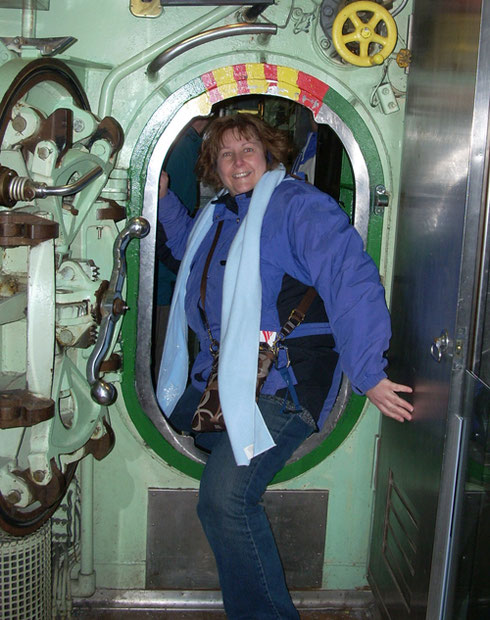 2010 Climbing Through Hatches and Doorways on the Submarine at the Intrepid Museum