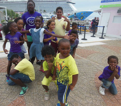 2014 We Loved this Group of Young Dancers near our Ship Dock in King's Point, Bermuda