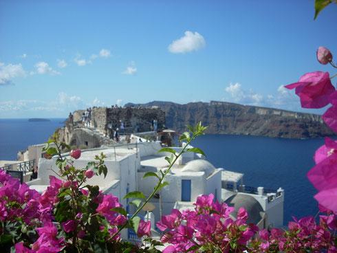 2011 Santorini - A view from Oia Looking toward the Caldera - Breathtaking