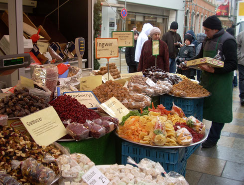 2010 A Vendor in Regensburg - Dried Fruits and Nuts are at Every Christmas Market