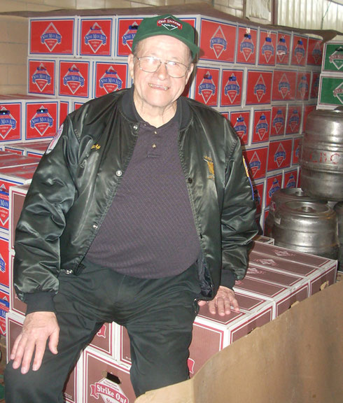 2011 Here he is Taking a Well-Deserved Rest on the Inventory at Cooperstown Brewery