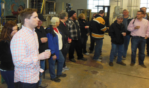 2014 Tastings Started Before the Tour at Thomas Hooker Brewing in Bloomfield, CT