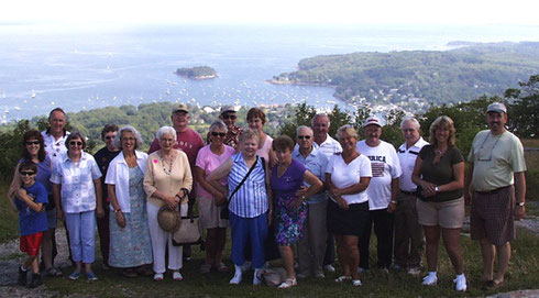 2004 Our First Trip to Boothbay - We're on the Top of Mount Battie - Recognize Anybody?