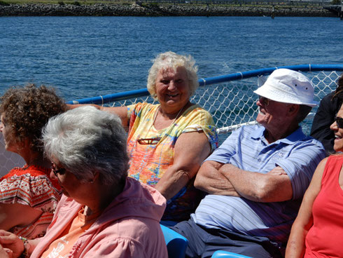 A Group of Travelers on our Last Trip to Cape Cod Canal - What a Beautiful Sunny Day