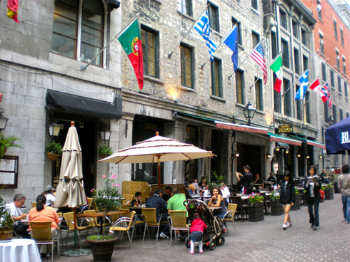 A Cafe in the Old City of Montreal