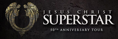 Official logo for the 50th anniversary tour of Jesus Christ Superstar