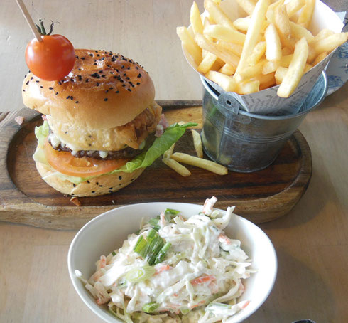 2015 What a Burger at the Titanic Museum Cafe in Belfast, Northern Ireland!