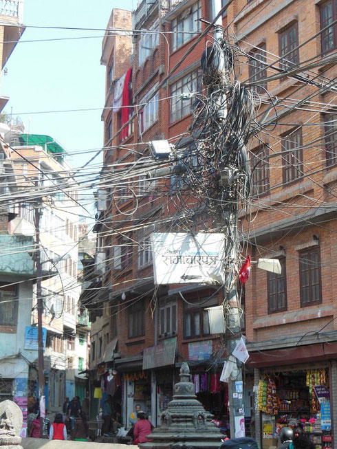 2013 Wiring like this is a Common Sight on the Streets of Kathmandu
