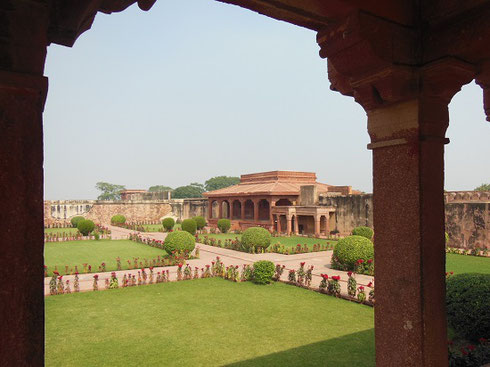 2013 The Palace Gardens at Fatepur Sikri in Agra are Beautifully Manicured