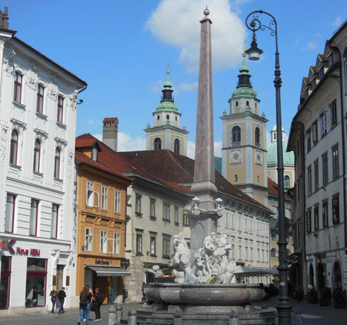 The Fountain of the Three Rivers Lies in the Heart of Ljublijana's Old Town