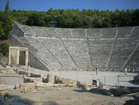 2011 Epidaurus - The Ancient Theater at this Pilgrimage Site still has Perfect Accoustics