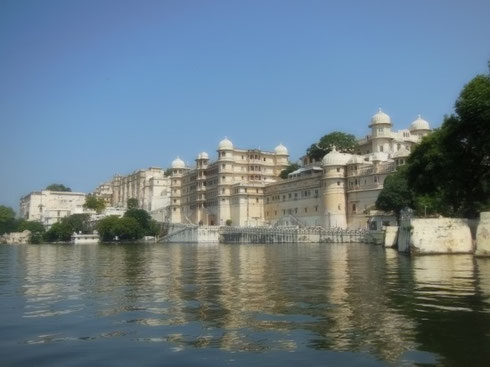 2013 Udaipur City Palace is a Sprawling Complex on the Shores of the Lake