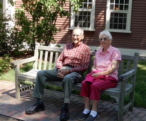 Many Took Advantage of Comfortable Seating on the Campus of Longfellow's Wayside Inn