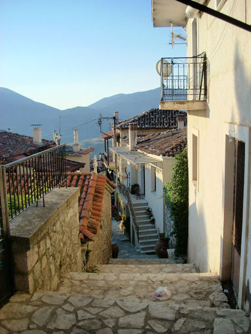 2011 Arachova Narrow Streets are Characteristic of this Greek Mountain Village