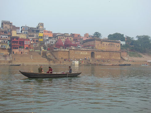 2013 Temples above the Ghats on the shores of the Ganges in Varanasi