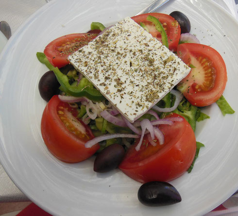 2013 A Greek Salad at Opa Taverna with the Freshest Ingredients on the Island of Mykonos