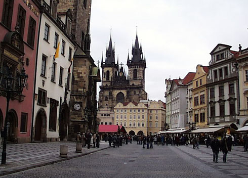 2006 Prague's Market is Enormous and Fills the City's Main Square