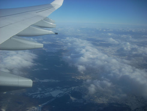 2010 And a Beautifully Clear Day to Fly Home Laden with Treasures from Christmas Market
