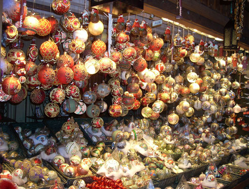 2010 I Love This Shot of a Christmas Ornament Stall at the Vienna Christmas Market