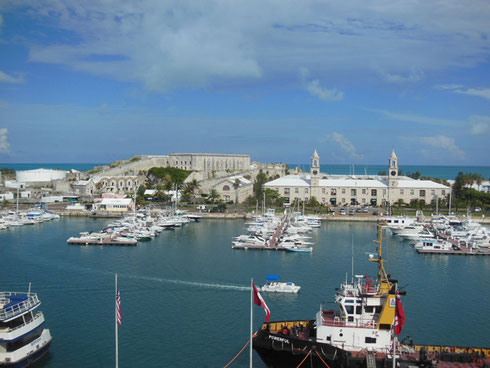 A View of the Royal Naval Dockyard at King's Point from your Cruise Ship