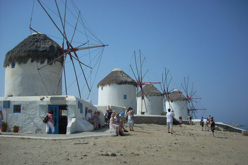 Everybody Loves to Photograph the Windmills on the Greek Island of Mykonos