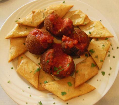 2014 Arancini with Marinara Sauce at Emilia's on Arthur Avenue in the Bronx