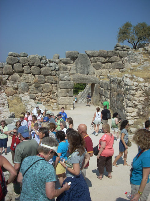 2011 Mycenae - A Group of us just Above the Ancient Lions Gate