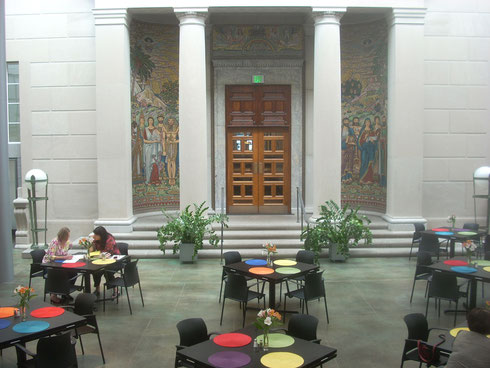 The Multi-Colored Winter Garden Cafe is the heart of the Museum