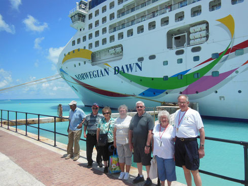 2017 A Group Assembles Outside the Ship for a Bermuda Shore Excursion