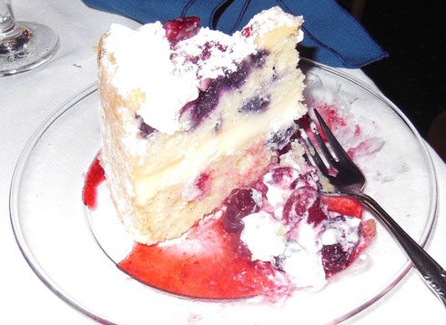 2013 The Triple Berry Cake at the Boothbay Harbor Inn Restaurant in Maine