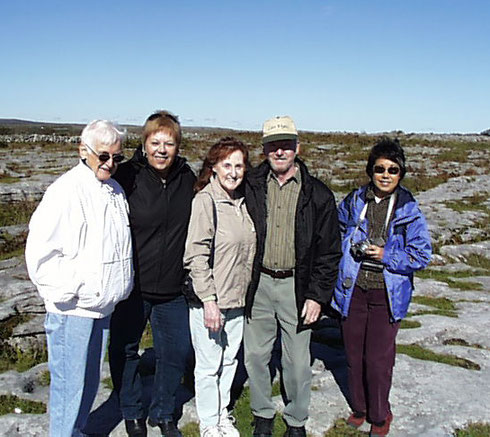 2007 Here we are in the Burren, an Area of Limestone Wasteland that Stretches for Miles
