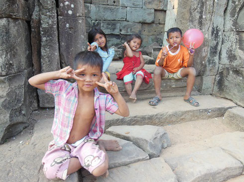 2015 We interacted with these Charming Children at the Temple of Bakong