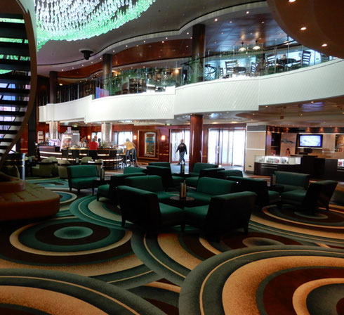 2018 The Newly Refurbished Atrium aboard Norwegian Gem is Spectacular!
