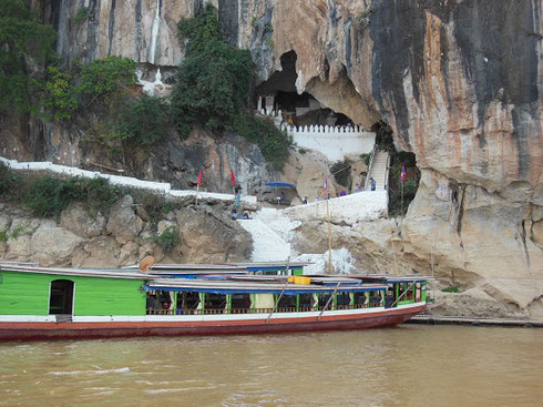 2015 Pak Ou Caves on the Mekong River in Laos have hundreds of Images of Buddha