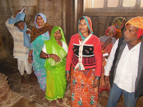 2013 This Group of Villagers Visiting a Temple at Khujaraho had never met Westerners