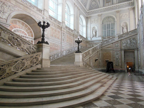 2013 Naples - The Grand Stairway at the Entrance of Palazzo Reale