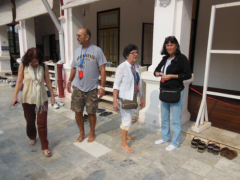 2015 Here we are with Shoes removed before our visit to the museum