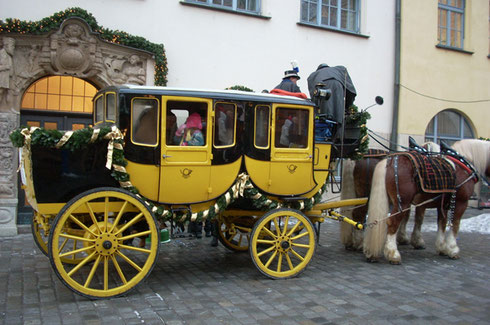 2010 This Carriage was for Hire at One of Europe's Oldest Christmas Markets - Nuremburg
