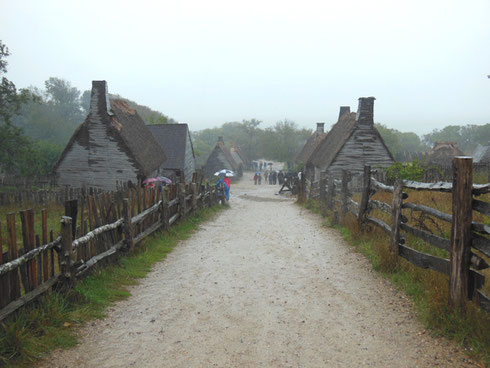 The Main Path Down through the Fortified Town of Plimoth was Wet and Muddy