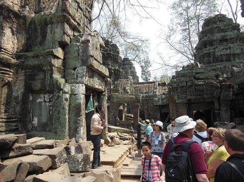 2015 Our Group during a visit to Ta Prohm in the jungles of Cambodia